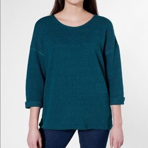 Slouchy Teal Top from American Apparel